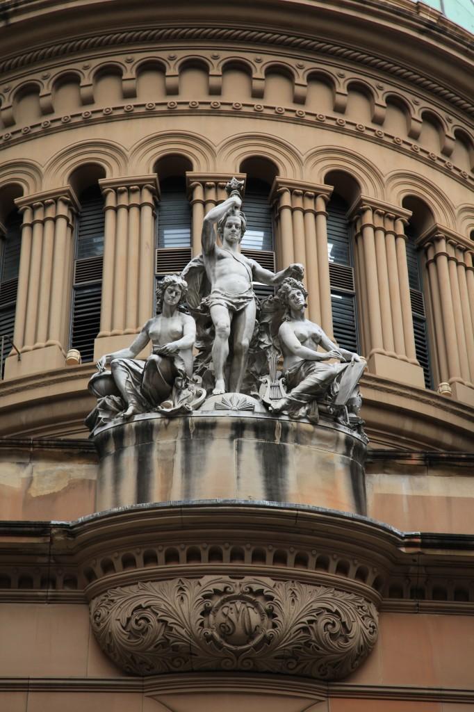 Queen Victoria Building Sculptures West