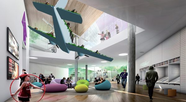 Artist impression of Cloud Nation by Claire Healy and Sean Cordeiro. Image courtesy of Stewart Hollenstein and Stewart Architecture.
