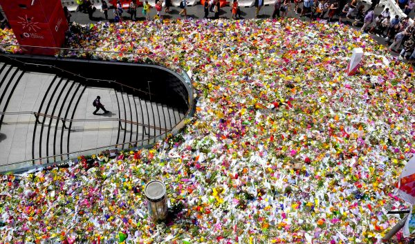 Floral tributes in Martin Place, December 2014