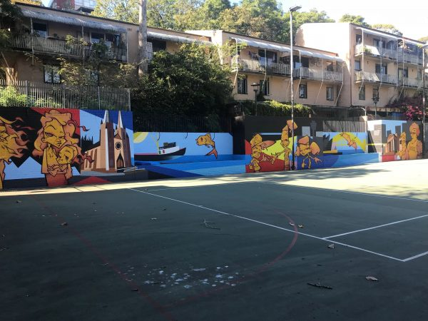 The Woolloomooloo Community Mural by Youth and Family Connect